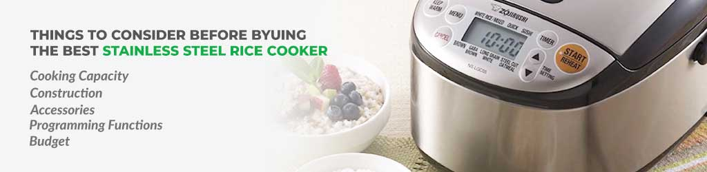 Stainless Steel Rice Cooker Buying Guide